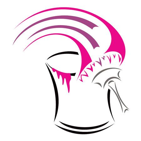Símbolo conceptual para pintor