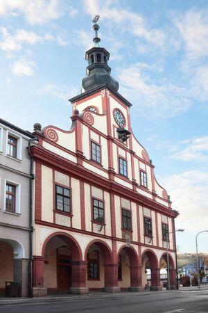 City hall tower in Vrchlabi, Czech Republic