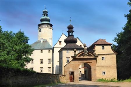 Entrance gate to castle Lemberk, Czech Republic
