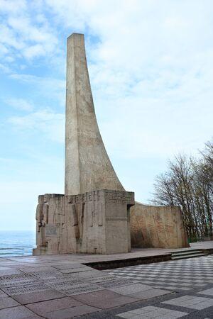 Memorial statue at the Baltic Sea in Kolobrzeg, Poland Publikacyjne
