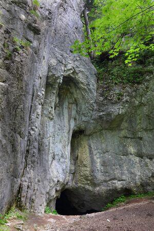 Entrance to the cave Dziura in Polish Tatra Mountains