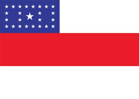 Vector Brazilian state Amazonas flag