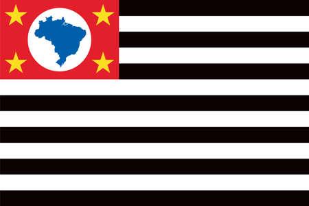 Vector Brazilian state Sao Paulo flag Vektorové ilustrace