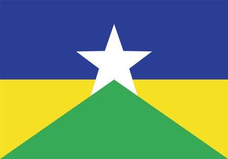 Vector Brazilian state Rondonia flag Vektorové ilustrace