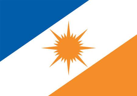 Vector Brazilian state Tocantins flag