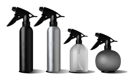 Realistic black bottle for essential oil. Illustration