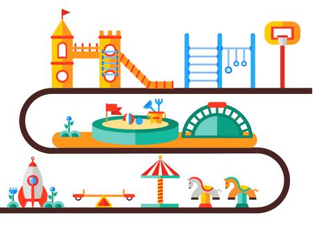 Children s playground illustration