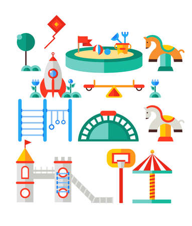 Children s playground illustration