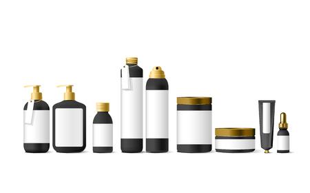 Realistic white cosmetic cream container