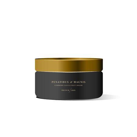 balsam: Realistic white cosmetic cream container