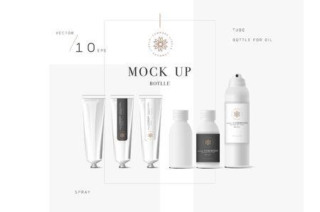 balsam: Realistic white cosmetic cream Illustration