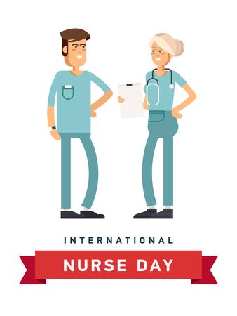rx: Vector illustration for International Nurse Day