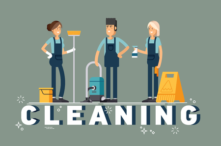 Cleaning company vector concept design.