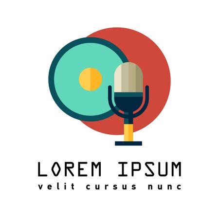 fm: Radio symbol. Flat Illustration