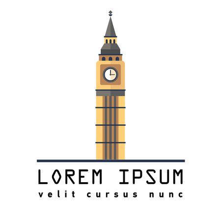 Symbol of London tower Big Ben Illustration