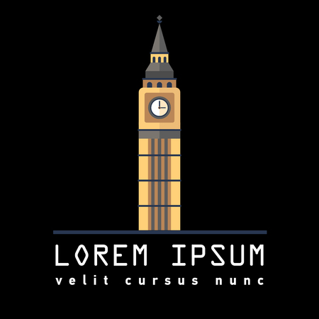 Symbol of London tower Big Ben 向量圖像