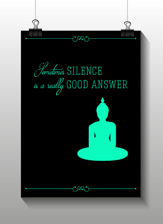 popular belief: Buddha quote motivation poster