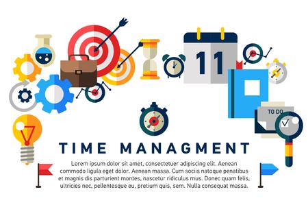 Flat illustration concept of effective businessman