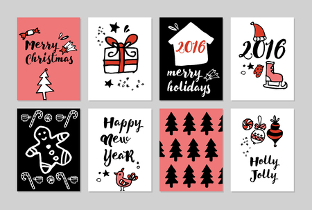 licorice sticks: Merry Christmas and Happy New Year. Illustration