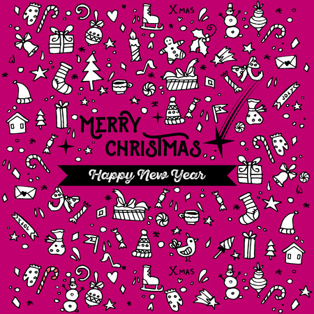 Doodle Christmas background.