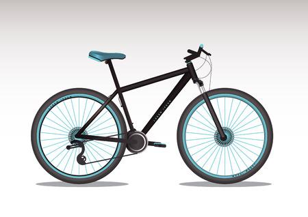 Vector illustration of realistic bike.