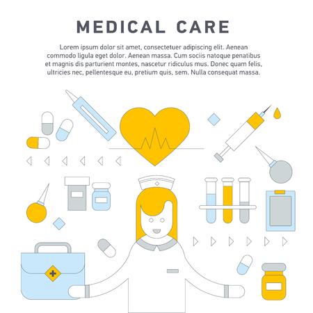 Krankenpflege primäre Gesundheit Standard-Bild - 77619614