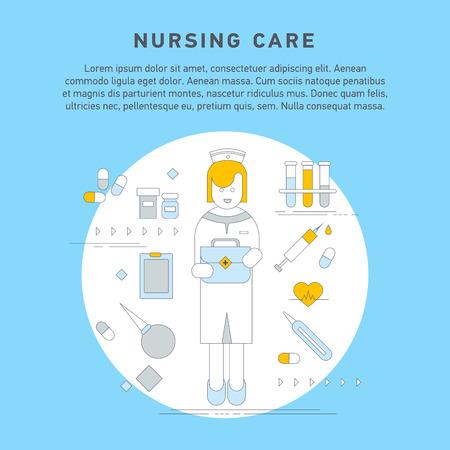 enema: Nurse service primary health Illustration
