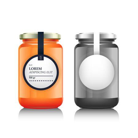 mason: Glass jar with  jam