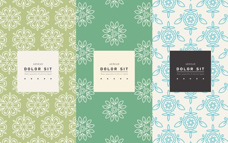 Vector set of packaging design templates Иллюстрация