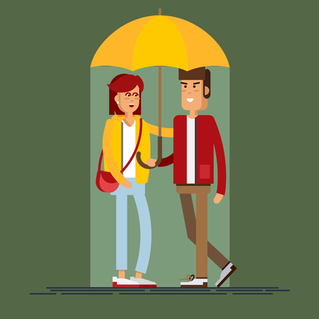 Vector illustration of a loving couple Illustration