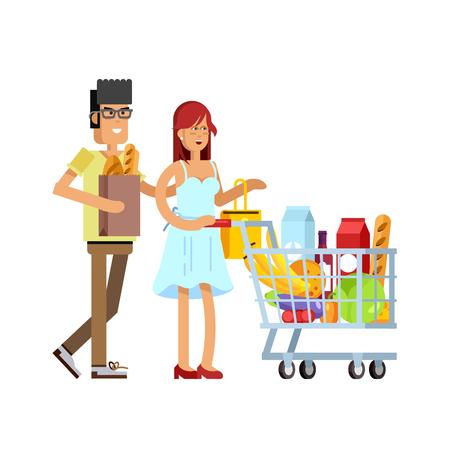 Ilustración del concepto para la tienda,