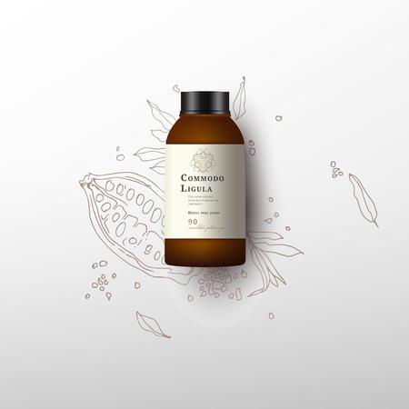 Realistische witte cosmetische crème