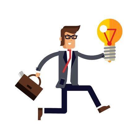 Vector flat detailed character businessman