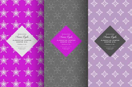 sweetshop: Vector set of design elements seamless