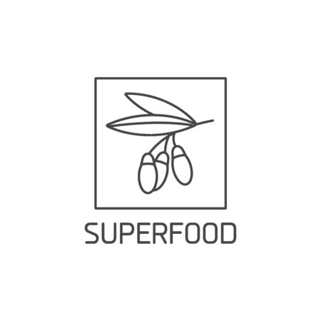 Superfood sign design. Symbol of healthy eating. Detox and weight loss supplements.