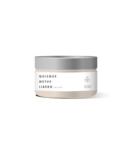 Realistic bank cosmetic container for cream, powder or gel. Package template. Vector mock up Illusztráció