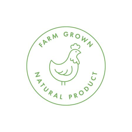Vector   badge or icon for natural farm and healthy products. Symbol of buy local food.