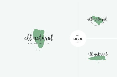 Natural product icons and elements collection for food market, ecommerce, organic products promotion, healthy life and premium quality food and drink.