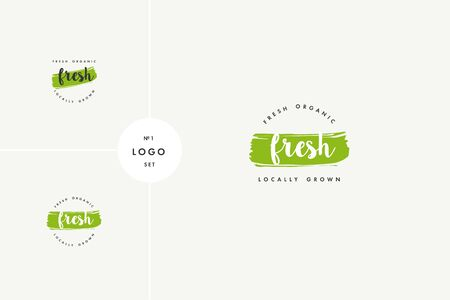 Freash product icons and elements collection for food market, ecommerce, organic products promotion, healthy life and premium quality food and drink. 向量圖像