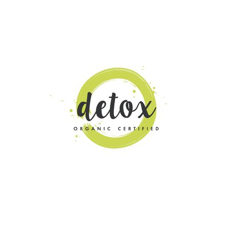Detox natural product icons and elements collection for food market, ecommerce, organic products promotion, healthy life and premium quality food and drink.