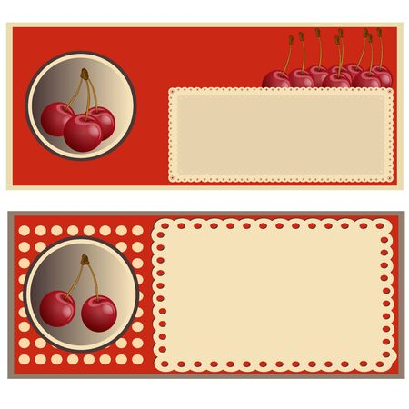 cherry label Vector
