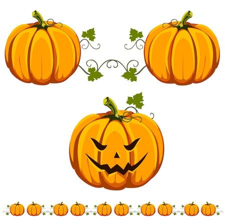 A cut Halloween pumpkin, and an interesting pumpkin pattern.
