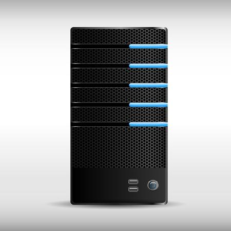 server rack: An abstract black server width gloving bunts.