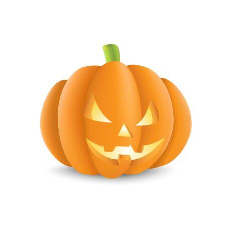 width: A cut out Halloween pumpkin width a scary face.
