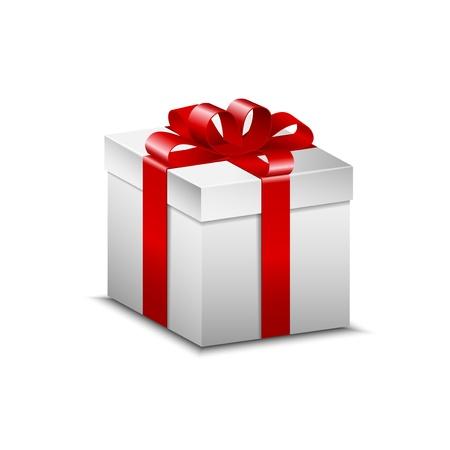 present: Wei� Weihnachtsgeschenk Illustration