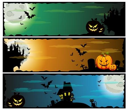 Halloween banners, set  Stock Vector - 15858356
