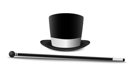 Gentleman hat and cane