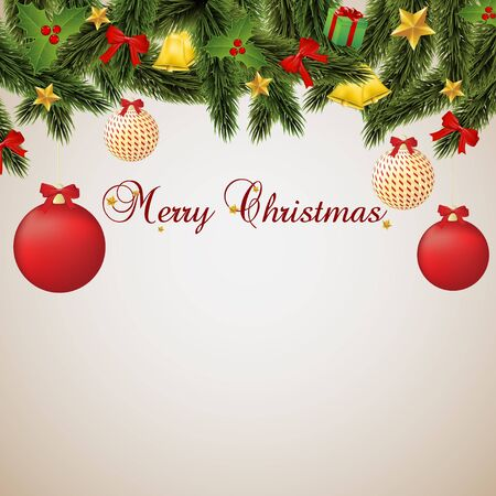 Merry Christmas, card Stock Vector - 16154959