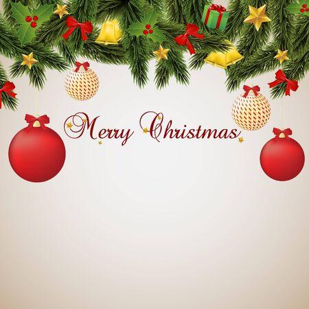 bell bronze bell: Merry Christmas, card