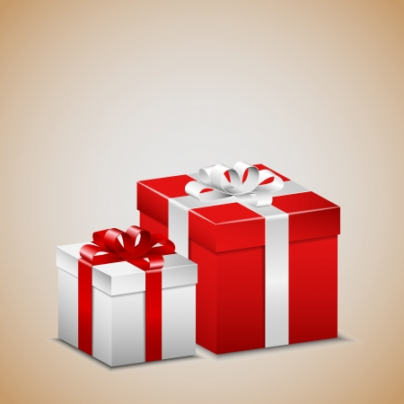 open gift: Red and white presents
